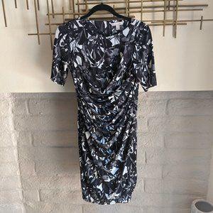 Black and white Dress Barn form fitting dress